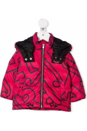 John Richmond Junior Baby Jackets - Logo-print puffer jacket