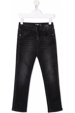 Neil Barrett Boys Jeans - Mid-rise faded jeans