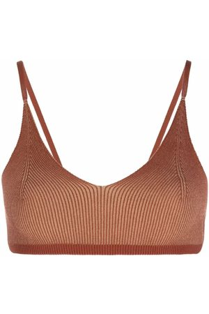 Jacquemus Knitted triangle bra