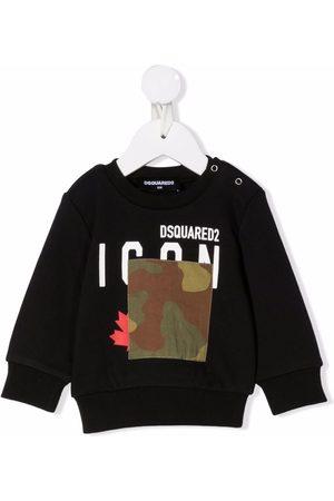 Dsquared2 Baby Sweatshirts - Logo-print camouflage detail sweatshirt