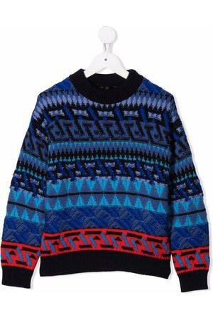 VERSACE Boys Jumpers - Intarsia-knit jumper
