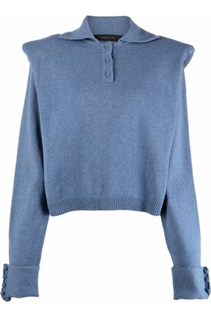 FEDERICA TOSI Women Tops - Shoulder-pad detail knitted top
