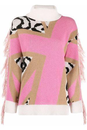 John Richmond Fringe-detail knitted jumper