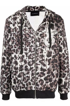 John Richmond Leopard-print zip-up hoodie
