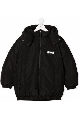 Moschino Boys Hoodies - Logo-patch zip-up padded jacket