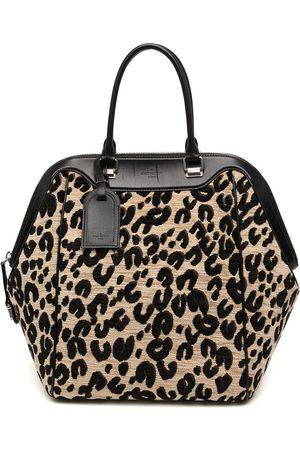 LOUIS VUITTON 2012-2013 pre-owned cheetah-print North South tote bag