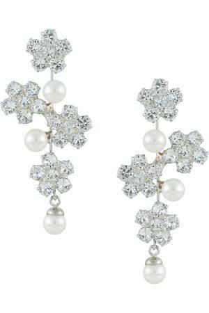 Jennifer Behr Aria crystal pearl earrings