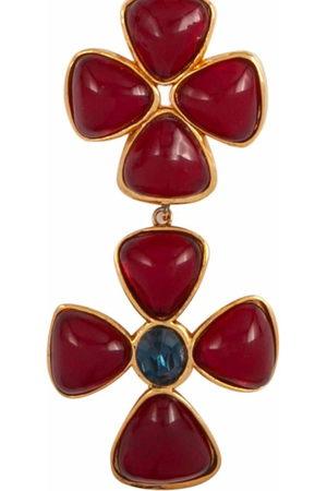 CHANEL 1986 faux-cabochon cross pendant necklace