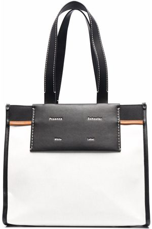 PROENZA SCHOULER WHITE LABEL Large Morris Coated Canvas Tote