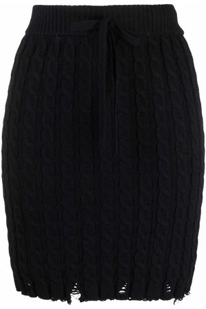Pinko Distressed knitted skirt