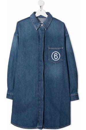 MM6 KIDS Girls Casual Dresses - TEEN denim shirt dress