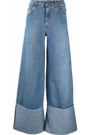 FEDERICA TOSI Turn-up wide leg jeans