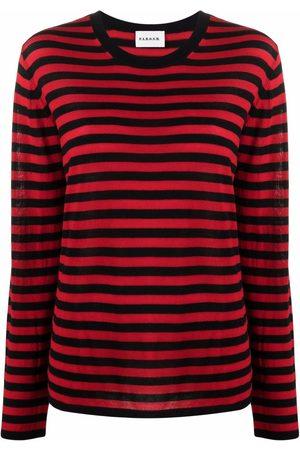 P.a.r.o.s.h. Striped-knit wool jumper