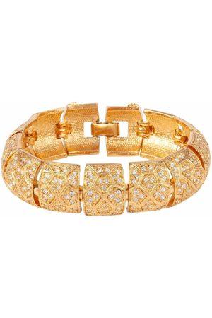 Susan Caplan 1980s D'orlan crystal-embellished bracelet