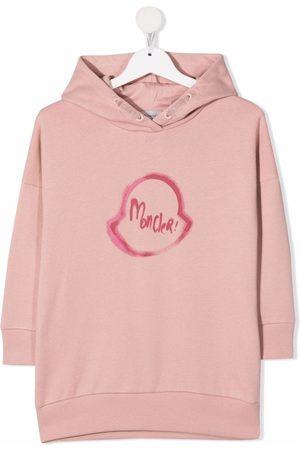 Moncler Girls Printed Dresses - Logo-print hoodie dress