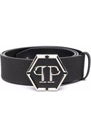 Philipp Plein Men Belts - Logo buckle belt
