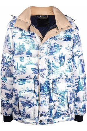 Philipp Plein Hoodies - Padded zip-up jacket