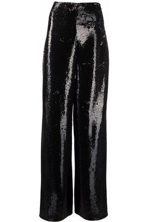 Philipp Plein Embellished wide-leg trousers