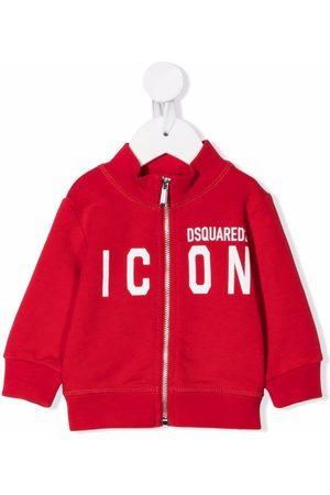 Dsquared2 Baby Jumpers - Zipped icon-print jumper