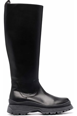 Staud Side zip leather boots