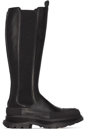 Alexander McQueen Women Boots - AMCQ FLT BT KH CHNKY SLE RTOE LTHR