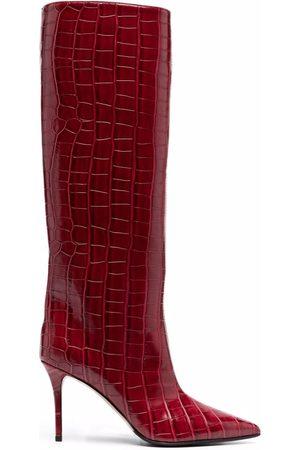 LE SILLA Eva croc-effect knee boots