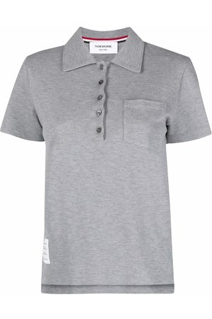 Thom Browne Women Polo Shirts - Chest patch pocket polo shirt