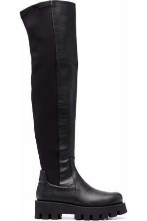 Paloma Barceló Women Knee High Boots - Knee-high suede-panel leather boots