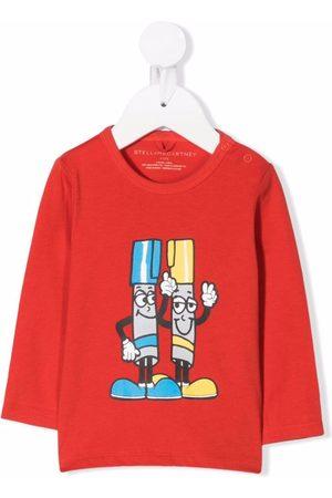Stella McCartney Baby Long Sleeve - Painting Friends-print cotton T-shirt