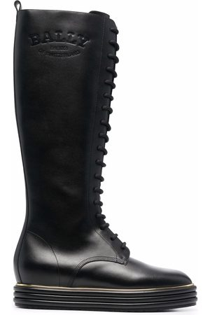 Bally Women Knee High Boots - Lace-up knee-high boots