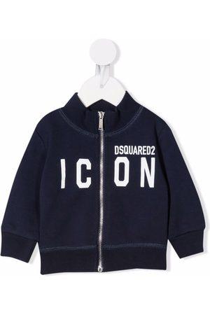Dsquared2 Baby Hoodies - Slogan-print zip-up sweatshirt