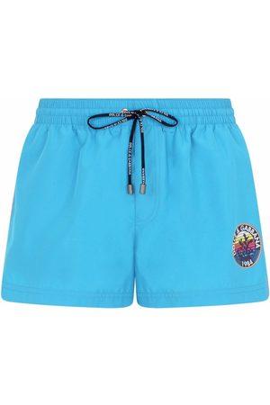 Dolce & Gabbana Men Swim Shorts - Logo-print swim shorts
