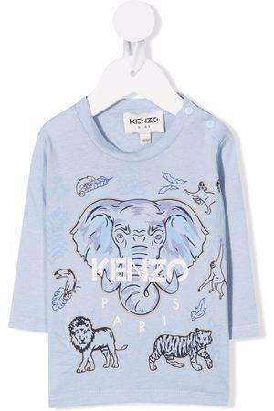 Kenzo Elephant-print cotton T-shirt