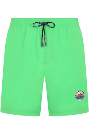 Dolce & Gabbana Logo-print mid-length swim shorts