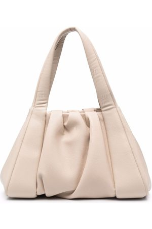 THEMOIRÈ Ruched faux leather tote bag