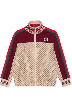 Gucci Boys Bomber Jackets - Technical jersey monogram-panel jacket