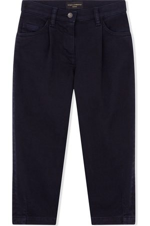 Dolce & Gabbana Girls Stretch Pants - Garment-dyed stretch jeans
