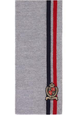 Dolce & Gabbana Embroidered logo wool scarf
