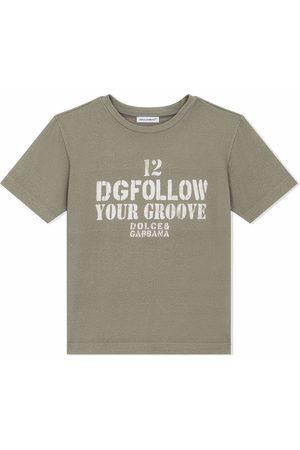 Dolce & Gabbana Boys Short Sleeve - Iconic-print cotton T-shirt