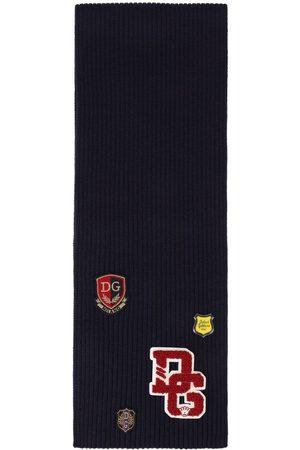 Dolce & Gabbana Boys Scarves - Patch-detail virgin wool scarf