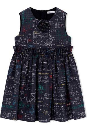 Dolce & Gabbana Girls Casual Dresses - Algebra-print cotton dress