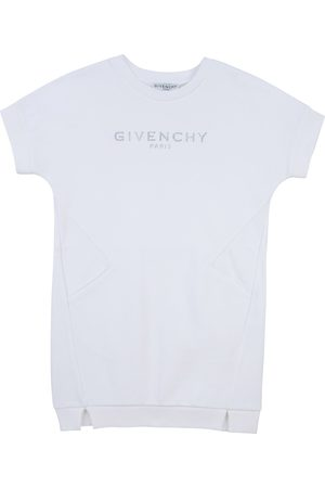 Givenchy Girls White Cotton Blend Dress - 6Y