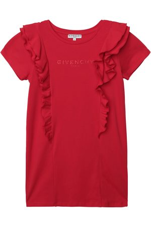 Givenchy Girls Red Cotton Jersey Logo Dress - 8Y