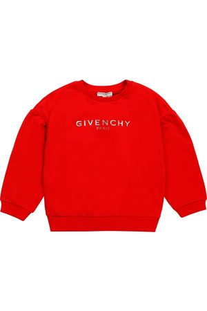 Givenchy Girls Red Fleece Logo Sweater - 6Y