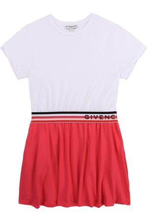 Givenchy Pink & White Logo Dress - 6Y