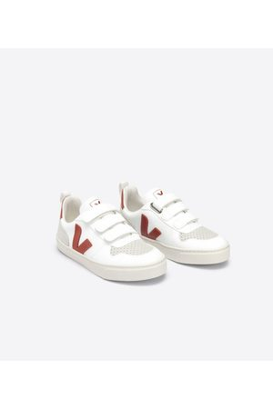 Veja White & Red Velcro Trainers - 28