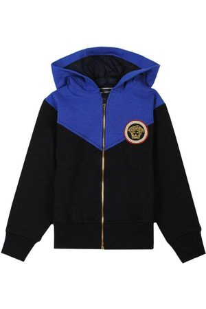 VERSACE Young and Blue Hoodie - 6 Y