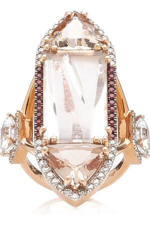 Katerina Marmagioli Women's Extravaganzza 18K Rose Gold Multi-Stone Ring