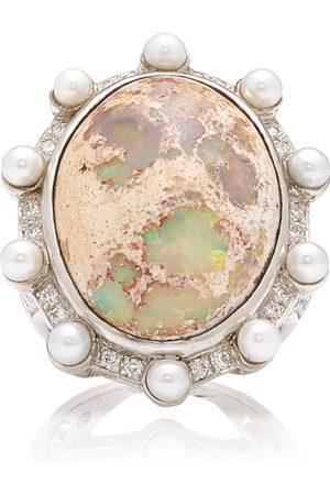 M.Spalten Women's Lunar Orbit 18K Gold Opal Ring