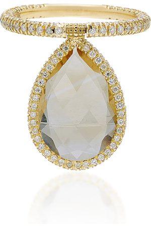 Nina Runsdorf Women's 18K Gold Citrine And Diamond Flip Ring